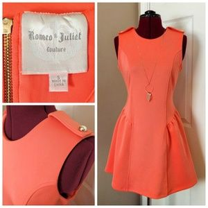 Romeo & Juliet Orange Fit and Flare Dress